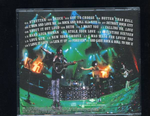 ♪♪CD 『地獄の宝石~ヴェリーベストオブ・KISS 』解説・歌詞・対訳・帯付・日本盤♪♪_画像2
