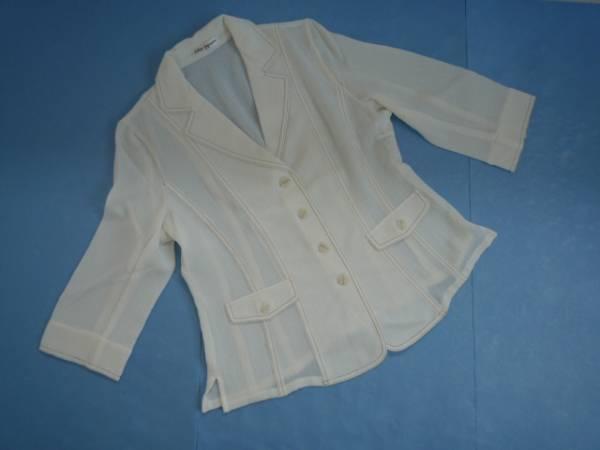 【良品!!】◆Cher Square◆ 7分袖ジャケット オフホワイト 9R