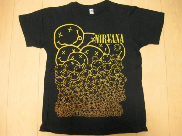 2007年ビンテージNIRVANAスマイルニルヴァーナTシャツカートコバーンSブラック
