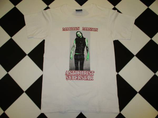 マリリンマンソン ロック バンド ホーラ サイコ Tシャツ 白色 M