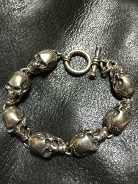 ネクロマンス 7スカルブレスレット 純銀925製 1点物