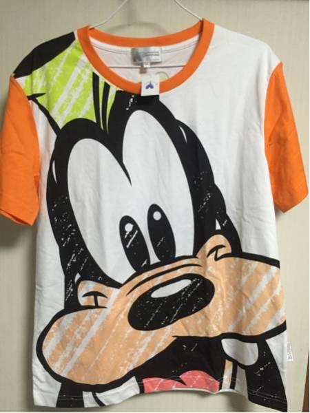 香港ディズニーランド Goofy グーフィー Tシャツ 新品タグ付 M ディズニーグッズの画像
