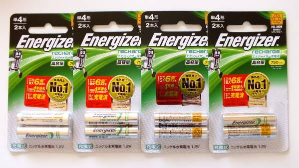 ★★エナジャイザー ニッケル水素充電池 単4形8本 新品★★