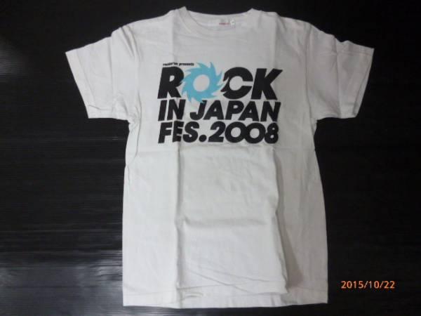 ROCK IN JAPAN FES 2008 Tシャツ サイズS 白/黒 中古品[B-280]