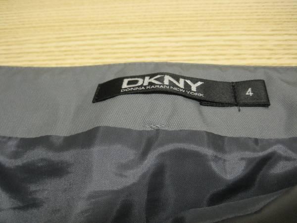 f9 DKNY/ダナキャラン グレーのナイロンプリーツスカート 4_画像3