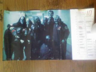 ポスター SLIPKNOT スリップノット BURRN! 2001年10月カレンダー