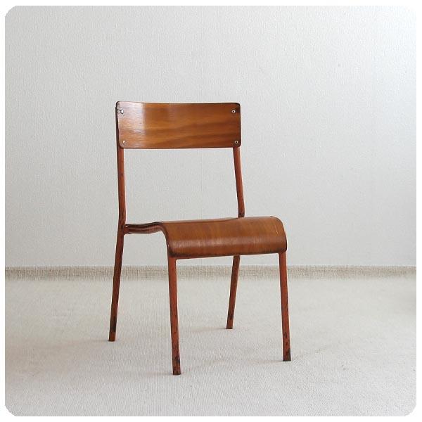 イギリス ヴィンテージ スクールチェア/学校椅子 チャイルドチェア/店舗什器/インテリア/アンティーク R-511_画像1