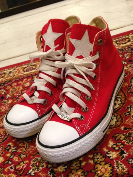 CONVERSE ALLSTER HI RED 25CM CHROME HEARTS クロムハーツ スニーカー_画像1