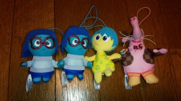 インサイドヘッド 指人形 マスコット 4個 フィンガーパペット ディズニーグッズの画像