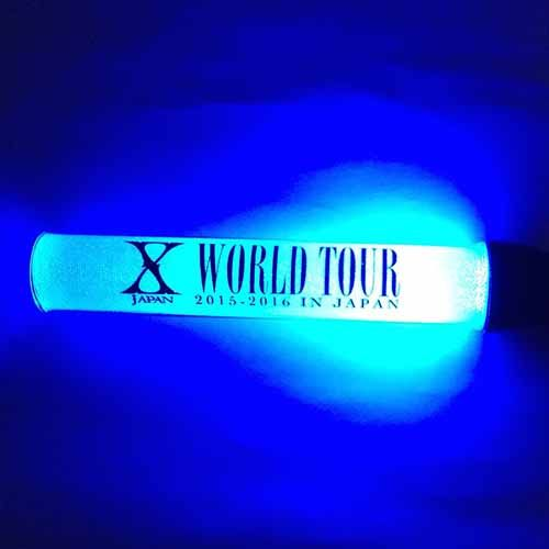 ★WEB限定★青★BLUE★X JAPAN WORLD TOUR 2015-2016★スティックライト★YOSHIKI★hide★Toshl★PATA★HEATH★SUGIZO★TAIJI★ペンライト
