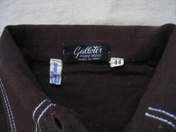 【値下げ!】 ◆ Gallotex ◆ ウールシャツ イタリア製 茶 44_画像3