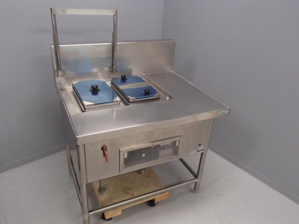 04-1022 中古品 タニコー 電気湯せん器 特注品SUS304 業務用 ステンレス 湯煎機 3相200V 温める 湯がき 槽 湯せん 麺 うどん そば 電気式_画像1