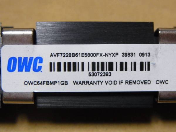 ■PC2-6400F FB-DIMM 1Gx2枚 MA970J/A OWC 1R■(DDR389)_画像3