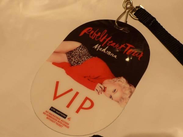 マドンナ VIPパス Madonna Rebel Heart Tour ライブグッズの画像