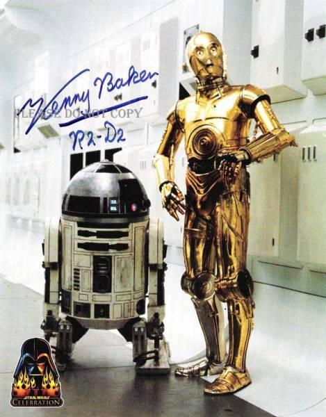 スター・ウォーズ R2-D2 C-3PO Kenny Baker サイン フォト