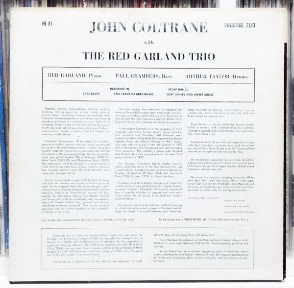 値下☆極美再生MONO深溝NYCこれが本当の完オリJOHN COLTRANE With Red Garland Trio最高峰となる至高の傑作Paul Chambers_画像2