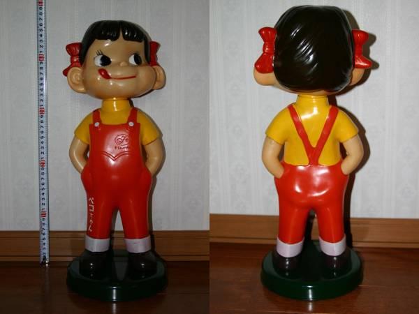 レア  不二家 ミルキー 首振りペコちゃん人形 約47cm_画像1