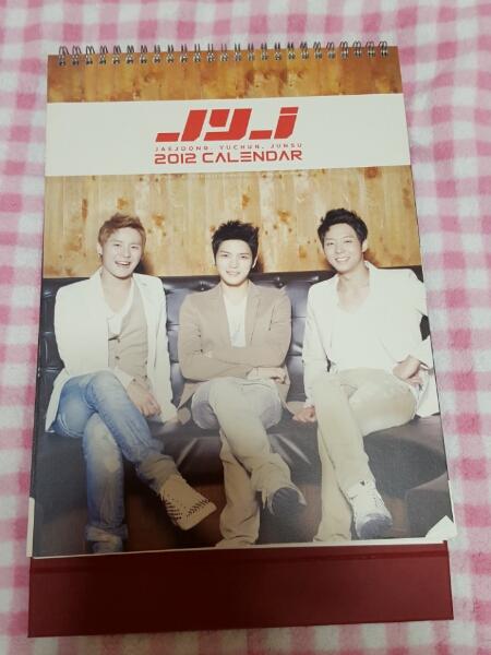 JYJ カレンダー ダイアリー 2012 ジェジュン ユチョン ジュンス ライブグッズの画像