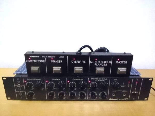 Maxon UE401 コンプ,フェイザー,オーバードライブ,マクソン