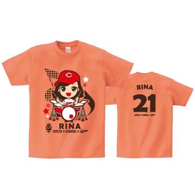 即決 RINA Tシャツ[M] SOUND MARINA 2013× SCANDAL ×CARP ライブグッズの画像