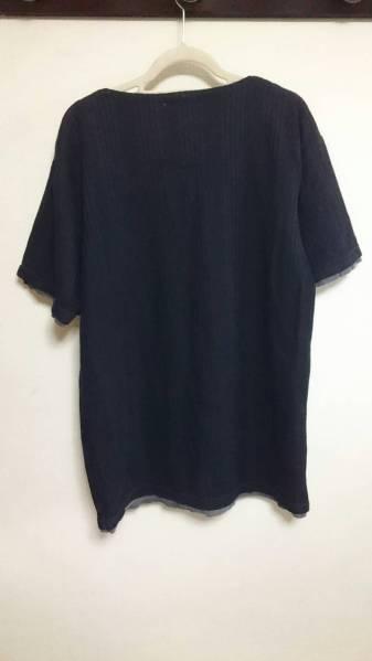 半そでTシャツ黒 首紐つきLLサイズ お兄系_画像3