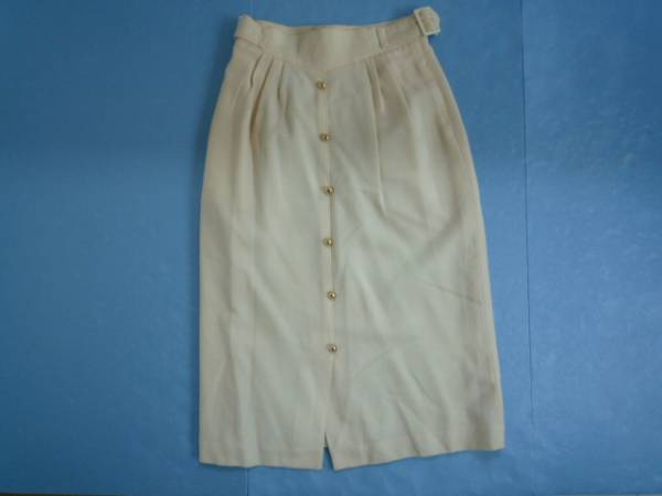 【お得!!】■Duk&dom■ 台形スカート 7分丈 オフホワイト W63