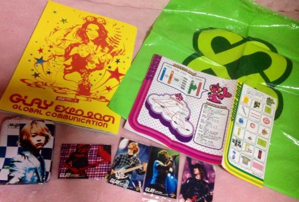 GLAY EXPO 2001 パンフレット ブック バッグ等