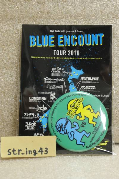 新品 BLUE ENCOUNT 2016 缶バッジ THE ORAL CIGARETTES 旭川