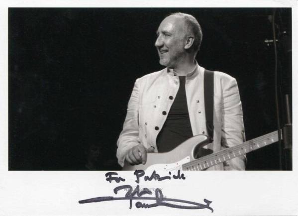 The Who Pete Townshend ザ・フー ピート・タウンゼント サインフォト 他、1点写真付き