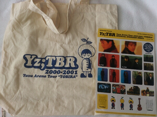 ゆず 2000-2001ツアーエコバッグ&ステッカー