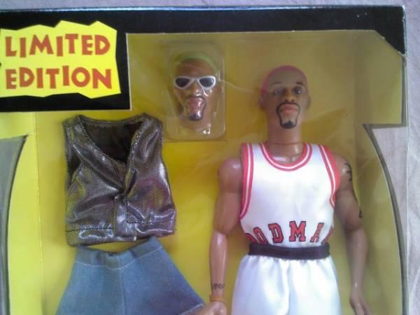NBAデニスロッドマン限定フィギュア着せ替え レア バスケット グッズの画像