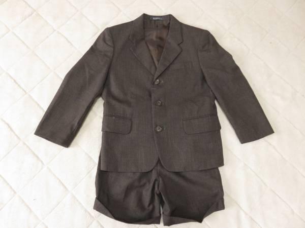 子供用 フォーマル スーツ 120cm 茶色系 男の子 卒園式 入学式 七五三_画像1