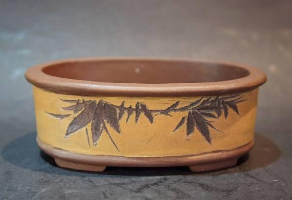 柏陽 盆栽鉢 奥行8.5cm 横幅1.7cm 高さ4.2cm