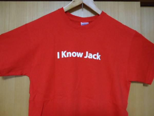 値下げ ハワイ ジャックインザボックス スタッフ 赤色 Tシャツ M ハンバーガー_画像2