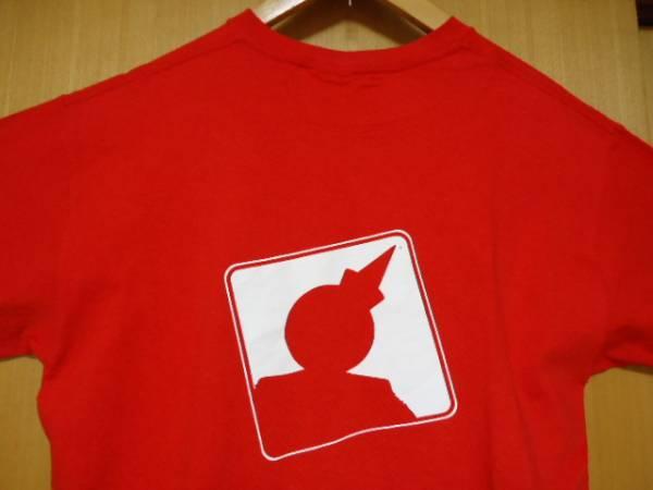 値下げ ハワイ ジャックインザボックス スタッフ 赤色 Tシャツ M ハンバーガー_画像1
