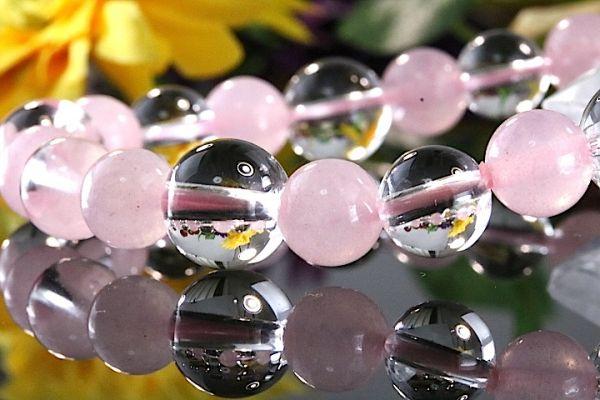 【送料無料】ローズ クォーツ《珠径8-10mm内径17cm》薔薇水晶 10月誕生石 パワーストーン天然石ブレスレット 恋愛運開運 浄化 激安433_画像3