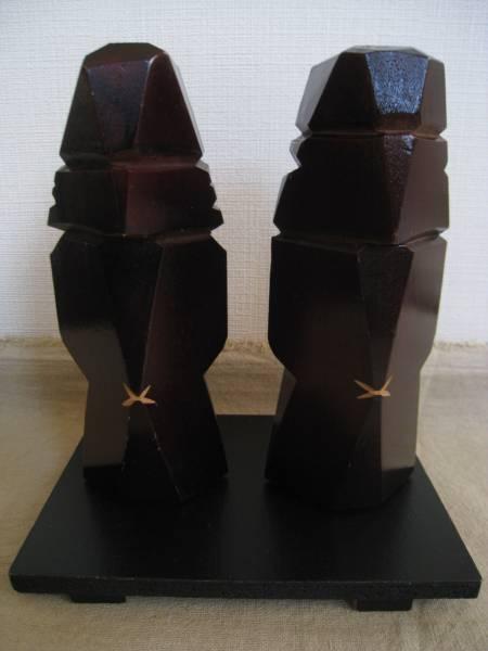 【良品!】■アイヌ 木彫り■アンティーク 彫刻 人形 置物_画像2
