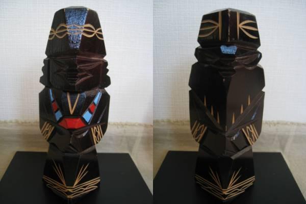 【良品!】■アイヌ 木彫り■アンティーク 彫刻 人形 置物_画像3