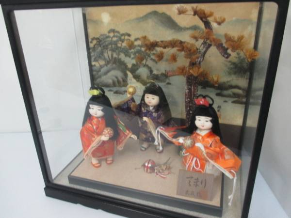 【良品!】 ★ 日本人形 ★ 「てまり」 武政作 童人形 わらべ人形_画像1