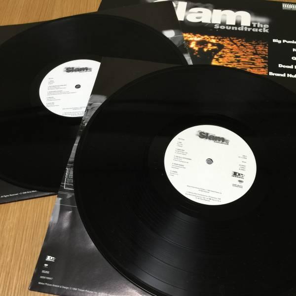 【送料無料】SLAM THE SOUNDTRACK US盤 2LP サントラ Big Pun feat. Next Q-Tip Ol' Dirty Bastard Mobb Deep KRS-One【アナログレコード】_画像2