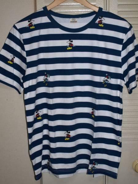 ミッキーマウス ミニー ディズニー プリント ボーダー Tシャツ_画像1