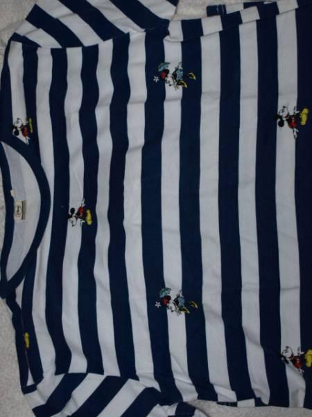 ミッキーマウス ミニー ディズニー プリント ボーダー Tシャツ_画像3