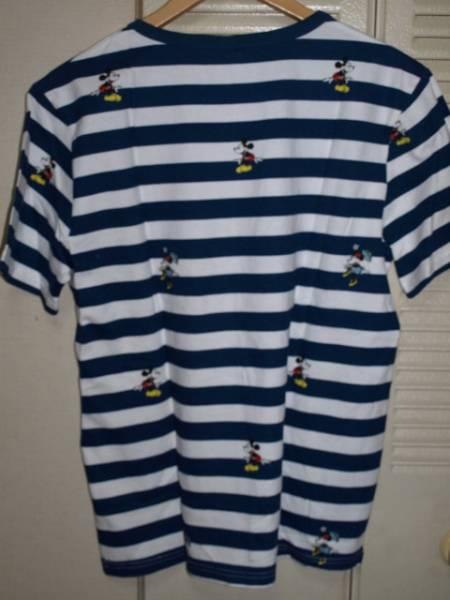 ミッキーマウス ミニー ディズニー プリント ボーダー Tシャツ_画像2