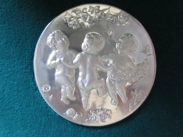 ★国際花と緑の博覧会記念貨幣発行記念・造幣局製・純銀メダル★_純銀メダル表面写真