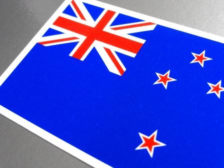 ■M_ニュージーランド国旗ステッカー 8x12cm■耐水シール 海外留学 海外旅行 スーツケースなどに☆ OC_画像2
