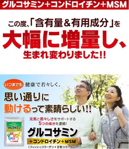 2型コラーゲン配合グルコサミン コンドロイチン MSM 1ヵ月分 健康食品 サプリメント_画像1
