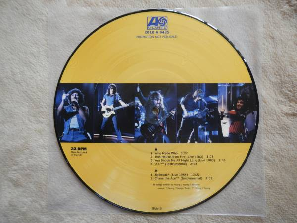 【10】ACDC/WHO MADE WHO(DJ10A9425欧州製100枚限定PICTURE DISC未使用品UNPLAYED)_画像2