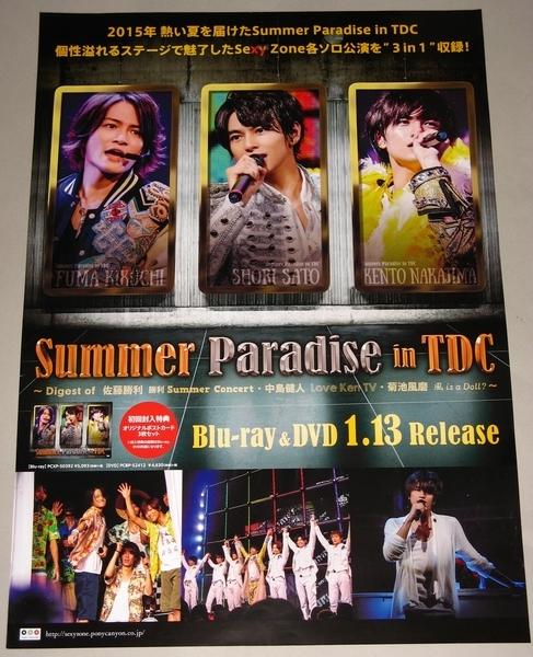 t13 告知ポスター [SUMMER PARADISE in TDC] SEXY ZONE
