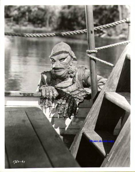 1954年映画 BLACK LAGOON 『大アマゾンの半魚人』 写真 三枚付き