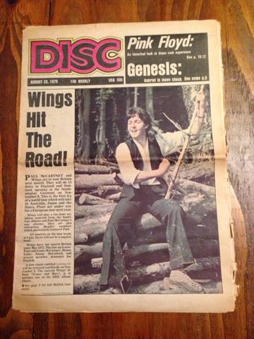 US新聞 DISC 1975 WINGS Paul McCartney PINK FLOYD GENESIS ライブグッズの画像